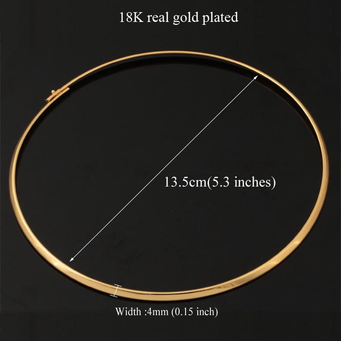 18 К настоящее / покрынная платина 2 цветов ювелирные изделия оптовая продажа 2014 новый модный колье для женщин 2 цветов круглый крутящий момент N329