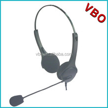Binaural call center headset for telephone headphone with usb plug