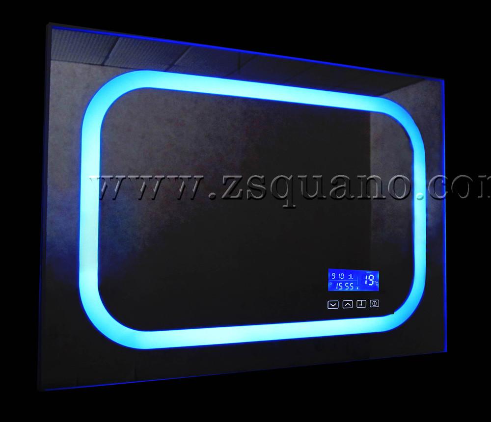 Intelligent mp3 salle de bains miroir avec led lumi re et for Miroir intelligent