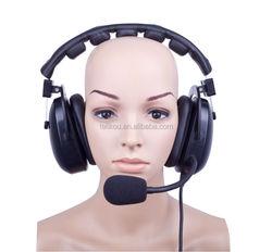 20% discount!!! HE-102 Electret Microphone dual ear Intercom Headset