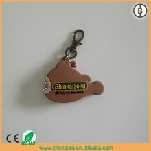 high quality promotional fish shaped floating keychain with led light