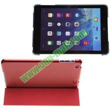 3-folding Polyurethane Material Magnetic Smart Cover for iPad Mini