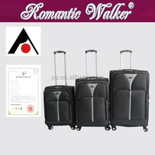 EVA trolley luggage set , hot sale ,cheap price . Nylon material luggage with trolley and wheels