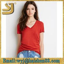 stylish women cotton plain fashion t shirt casual style with custom label