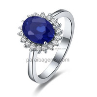 Handcrafted Synthetic diamond Blue Sapphire 1 5 Carat Excellent Top Brand Style Blue jewellery manufacturer in india jaipur