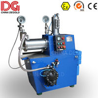 DEGOLD 15L agitator sub-micron Ex proof wet mold steel grinding cylinder&disc horizontal bead mill in China for cosmetic