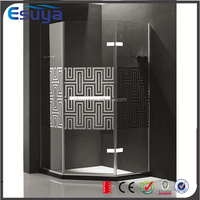 Fabric glass excelent quality portable shower enclosure