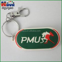 Promotional soft PVC 3D keychain / Plastic keyring / rubber PVC key chains