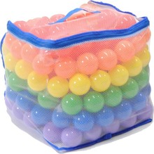 Wonder Playball Non-Toxic Phthalate Free Crush Proof Pit Balls, Red, Orange, Yellow, Green, Blue and Purple, 6.5 cm