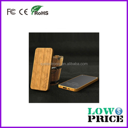 2015 Waterproof and dustproof mobile charger 4000mah in wood material