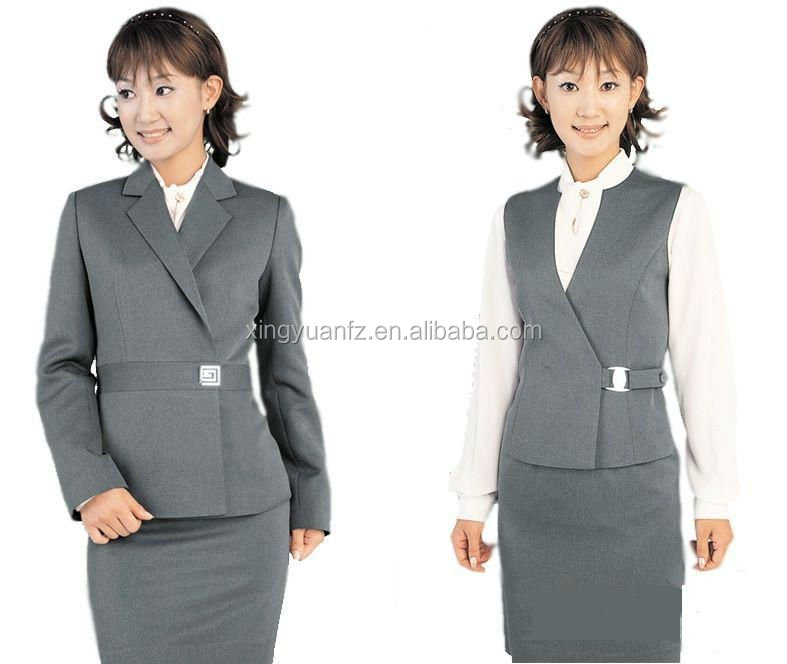 Qualitied professional bank lady uniform sets buy bank for Uniform for spa receptionist