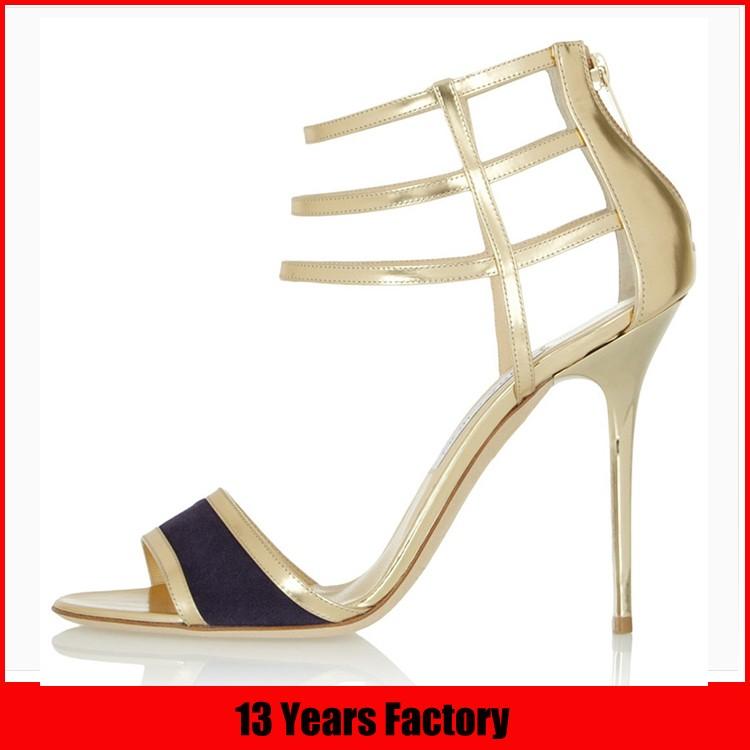 2016 trend style colorful fur ball strap heel sandal women summer sandal