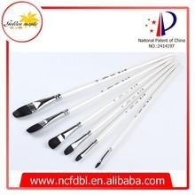Black Sable artist brushes/Long handle Artist Paint Brush/6 pcs Paint set for oil/acrylic painting