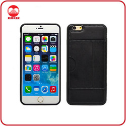 Factory Wholesale Silicone Leather +TPU Stand Case for iphone 6 Plus