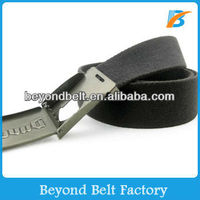 Metal Beer Bottle Opener Buckle Cotton Canvas Belt for Promotion Gift