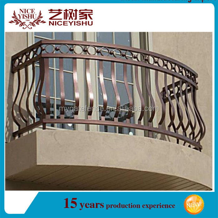 Wrought iron window grill balcony railing design for for Balcony safety grill designs