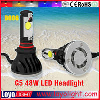 5th Generation HB4 9006 waterproof led auto headlight h4 h7 h9 h11 the led car headlights