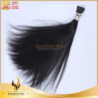 high quality brazilian virgin human hair I-tip hair extensions