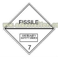 Fissile flammable Adhesive dangerous Hazchems Placards sticker Class 7 plastic road reflectors