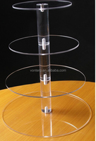4 Tiers Circle Round Maypole Acrylic Cupcake Stand Wedding Party Birthday Event Display