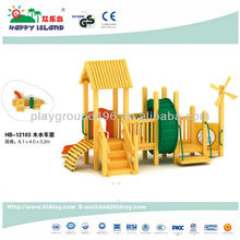 Solid Wood Outdoor Kids Slides