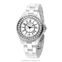 Custom Logo Watches,Vogue Latest Watches,White Lady Ceramic Bracelet Watch