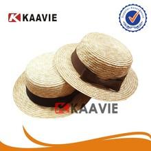 Guangzhou factory girls straw boater hat cheap
