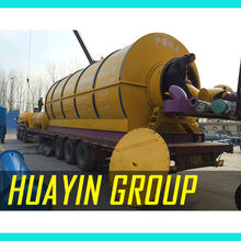 Movable CE IS O SGS quality control waste tire to oil pyrolysis recycling plant