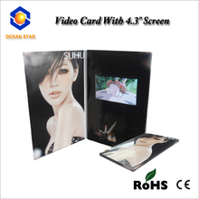 2014 new designed handmade 4.3 inch lcd video card with invitation greeting card import
