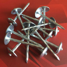 Twist shank umbrella head roofing nails factory made in China