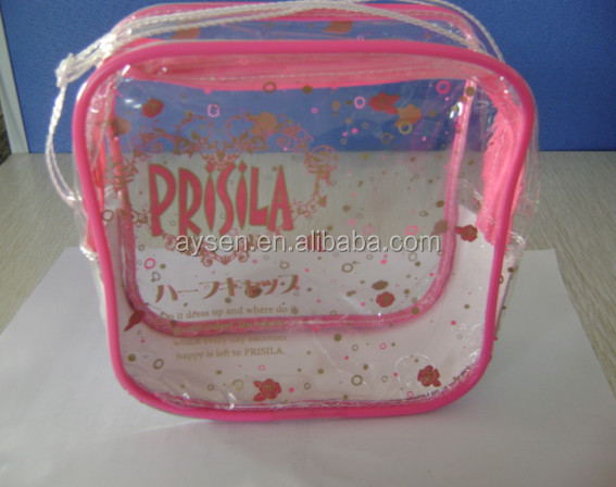 Barato bolso del paquete del pvc/pvc transparente del bolso/la bolsa de plástico