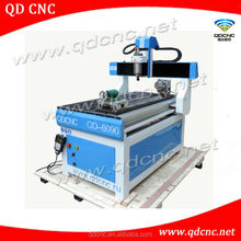 25% discounted CE/SGS 4 axis cnc router/mini cnc router 4 axis QD-6090