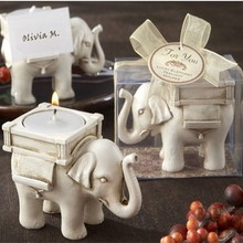 Bomboniera, elefante incantevole arte candela, regalo di nozze