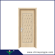 New design popular MDF+Finger joint fir wood+PVC 2015 new fashion moisture proof wpc/pvc door