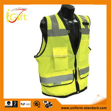 High quality roadway protective high visibility cheap cotton safety vest