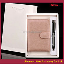 Warehouse PU Leather Notebook Pen High School 2pcs Gift Item,Office gift set,Weeding Gift set