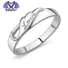 316l stainless steel gold wedding diamond silver women's gold ring designs for women