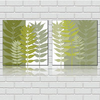 Green Leaves Modern Decorative Painting