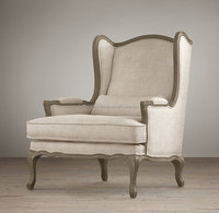 classical french antique sofa/solid wood single sofa