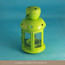 2015 new design mini metal wrought iron candle holder lantern