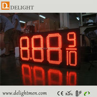 date and time led display/ outdoor led gas pricing signs/ digital countdown clock