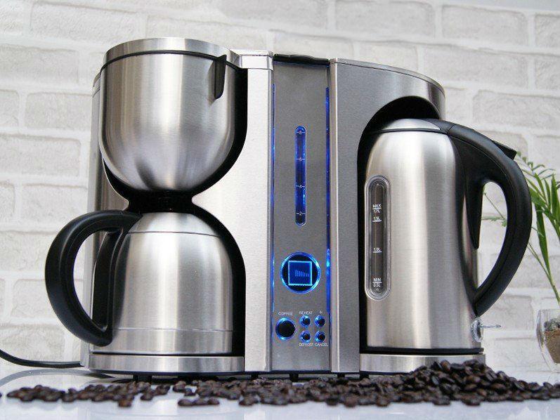 3 en 1 machine à café en acier inoxydable cafetière