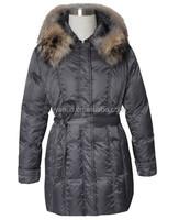 2015 Korean new slim winter down jacket with racoon fur