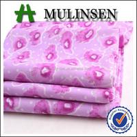 Mulinsen Textile Woven 100% Polyester Wool Peach Printed Summer Lightweight Fabrics
