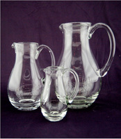 Mouth blown red wine decanter/water pitcher / milk pot with handle for hotel / resdterant/ bar