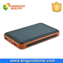 hot selling 10000mAh plastic casing portable flashlight fashion low price promotional solar charger power bank for mobile