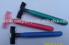 plastic disposable triple blade razor for businessman