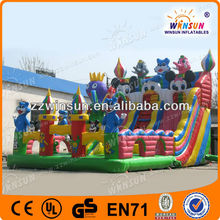 Animal theme Hot selling cheap blue cat inflatable slide