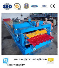 whole life after sale service roll forming machine supplier glazed tile profile glazed roofing making roof roll forming machine