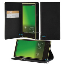Flip leather cover case for Aquos serie mini SHV31